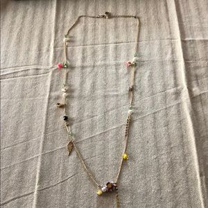 Betsey Johnson gold charmed necklace